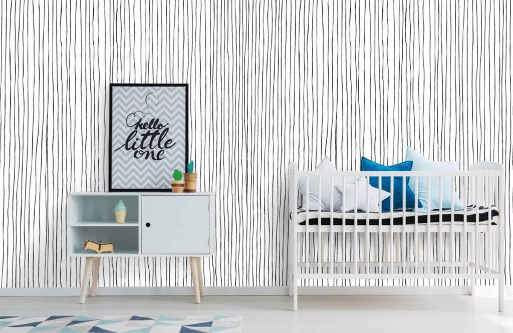 Fond d'écran abstrait - Lignes abstraites en noir et blanc - Entrepôt 6